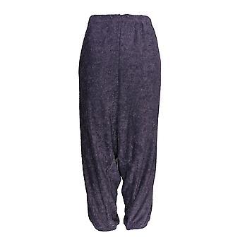 Stan Herman kvinner ' s Petite Lounge bukser koselige loop Terry Purple A368214