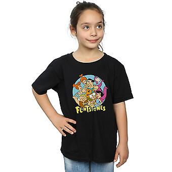 The Flintstones Girls Group Circle T-Shirt