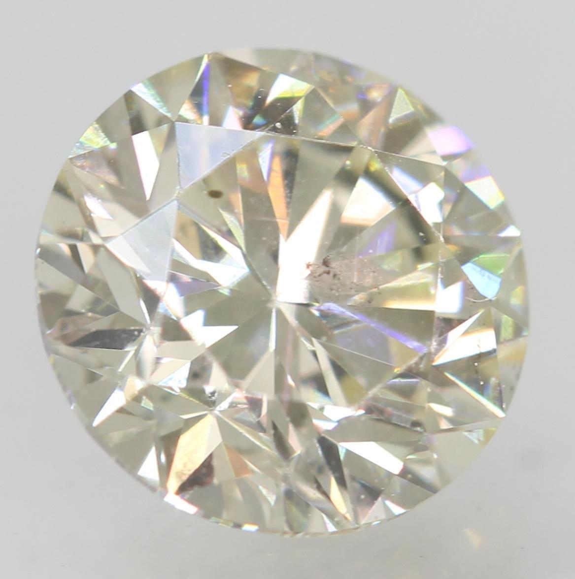 Certified 1.11 Carat I VS1 Round Brilliant Enhanced Natural Diamond 6.58m EX CUT