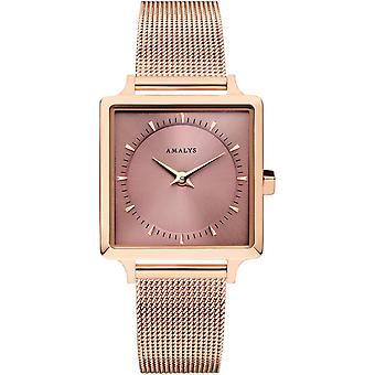 Amalys ALICE - Uhr Stahl rose weiblich zu sehen