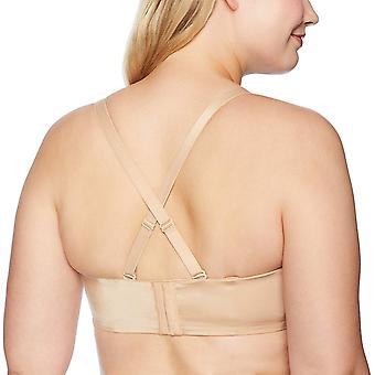 Curvy Couture kvinnor ' s plus-size slät Axelbandslös behå,, Bombshell Nude, storlek 36dd