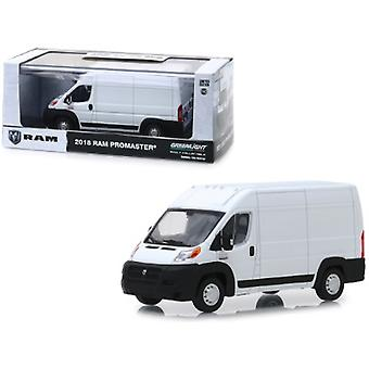 2018 Dodge Ram ProMaster 2500 Cargo Van High Roof Bright White 1/43 Diecast Modell von Greenlight
