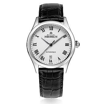 Michel Herbelin 1661-01 Men's Classiques Automatic Brown Strap Wristwatch