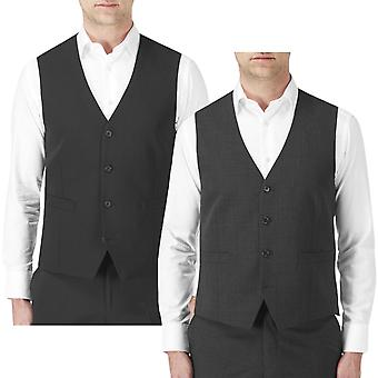 Skopes Mens Big Tall Darwin Single Breasted Button Up Adjustable Suit Waistcoat