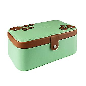 Jewelry box with flowers - Green