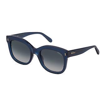 Mulberry Charlotte SML001 0U36 Shiny Blue Petroleum/Blue Gradient Sunglasses