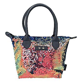 Depesche 10211 - Bag with Sequins Trend Love Color: Blue