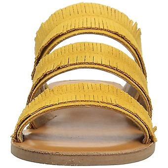 Lucky Brand Womens Hegen Leather Open Toe Casual Slide Sandals