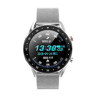 Lemfo Sports Smartwatch Fitness Sport Activity Tracker Smartphone Watch iOS Android iPhone Samsung Huawei Silver Metal