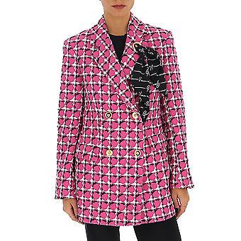Versace A85657a232908a4230 Women's Fuchsia Cotton Blazer