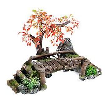 Classic For Pets Wood Bridge / Plant 320mm (Fish , Decoration , Ornaments)