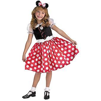 Rote Minnie Maus Kind Kostüm