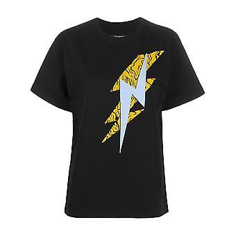 Isabel Marant Ts046220p032i01bk Women's Black Cotton T-shirt