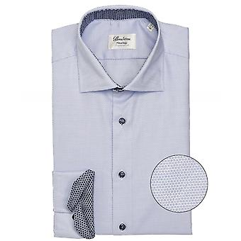 Stenstroms Fitted Body Dot Print Shirt