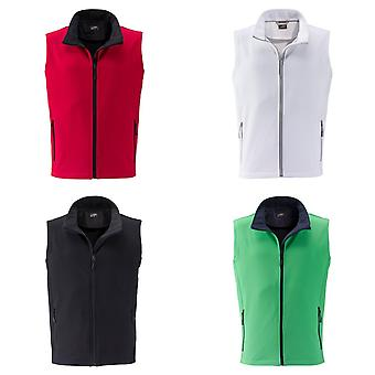 James and Nicholson Mens Promo Softshell Vest
