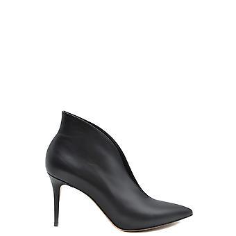 Gianvito Rossi Ezbc443003 Women's Black Leather Ankle Boots