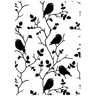 Nellie's Choice Embossing Folder Tree with birds HSF027 106x150mm
