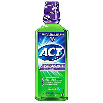 Act total care anticavity fluoride mouthwash, fresh mint, 18 oz