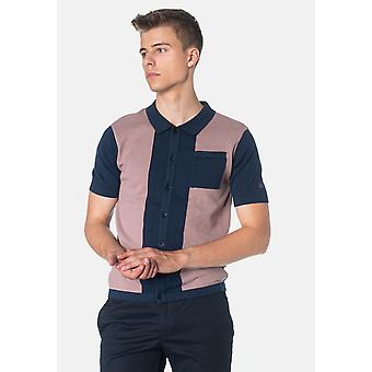 Merc CONDUIT, Colour Block Knitted Men's Polo Shirt