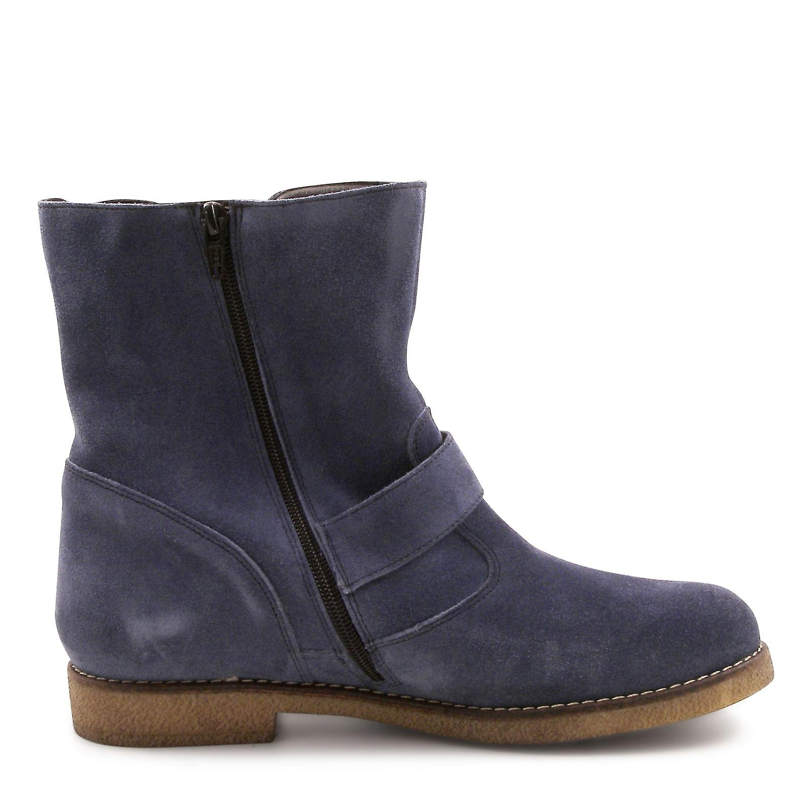 Women's italian suede leather low boots hand crafted