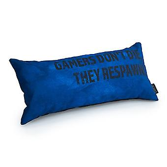 Loft 25 GAME OVER Blue 'Gamers Don't Die, They Respawn!' Foam Crumb Filled Gaming Cushion