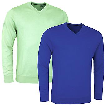 Callaway Golf Mens Ribbed V-Neck Merino Opti-Therm Sweater Jumper