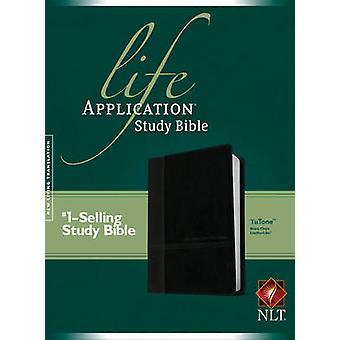NLT Life Application Study Bible Tutone Black/Onyx - 9781496413444 Bo