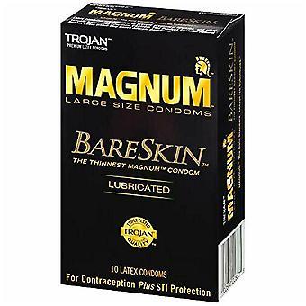 Trojan magnum bareskin latex Kondome, große Größe, 10 ea
