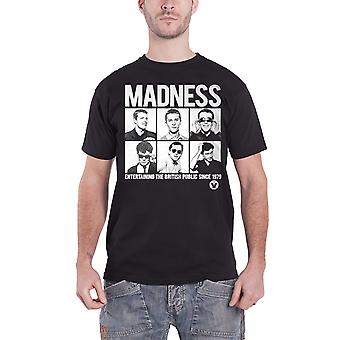 Madness T Shirt Entertaining British Public Since 1979 Official Mens New Black