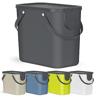 ROTHO Recycling Müllsystem ALBULA 25 l Dunkelgrün | Mülleimer