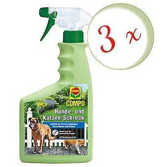 Sparset: 3 x COMPO Dog and Cat Scare, 500 ml