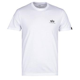 Alpha Industries Basic White Logo T-Shirt