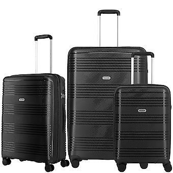 travelite Zenit Case Set 3-delige S-M-L, Zwart