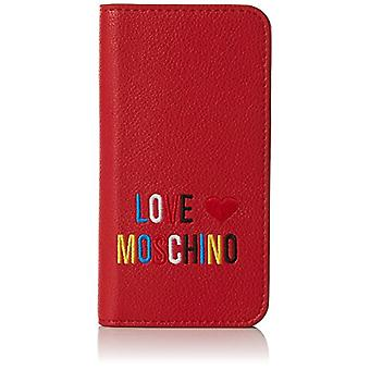 Love Moschino Portacel.small Grain Pvc Red - Pochette del Día de la Mujer (Rojo) 2x14x7 cm (B x H T)