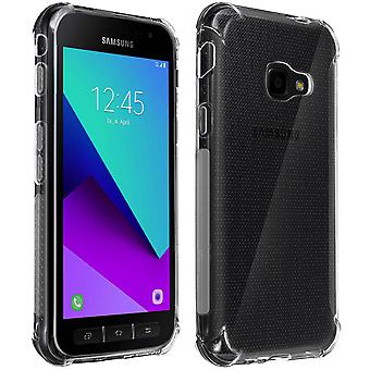 Protective Cover Galaxy Xcover 4s/4 Flexible Shock Reinforced corners Clear