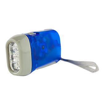Handdriven LED Ficklampa - Blå