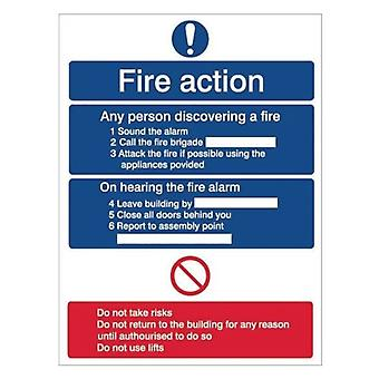 House Nameplate Co Fire Action Sign