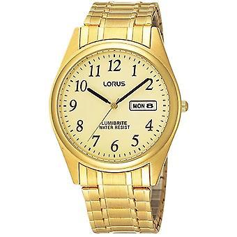 Lorus RXN98AX-9 Tono oro expansión pulsera reloj de pulsera