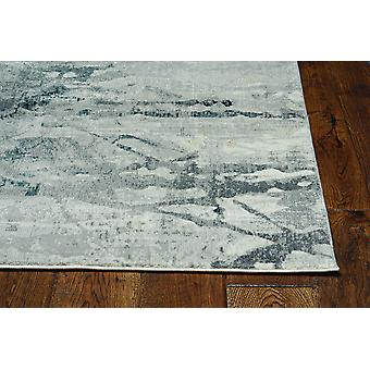 2' x 7' Grey Polypropylene and Polyester Runner Rug