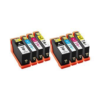 RudyTwos 2x Replacement for Lexmark 100XL Set Ink Unit Black Cyan Magenta & Yellow Compatible with Impact S300, S301, S302, S305, S308, Interact S601, S602, S605, S606, S608, Interpret S402, S405, S40