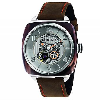 Briston 201042.SA.BR.2.BR Streamliner Skeleton Brown-Orange Acetate Wristwatch