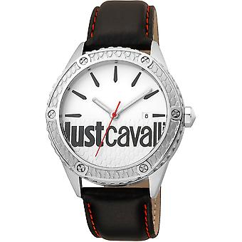 Just Cavalli Young Watch JC1G080L0015 - Leather Gents Quartz Analogue