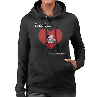 Love Is The Way To Beat Stress Women's Hooded Sweatshirt