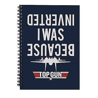 Porque estaba invertido Top Gun Spiral Notebook