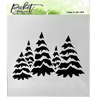 Picket Fence Studios Lumisten puiden kenttä Stencil