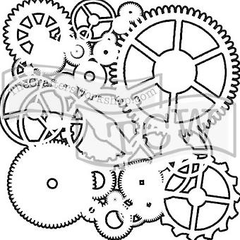 The Crafter's Workshop Gears 6x6 Inch Stencil