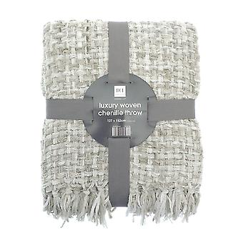 Country Club Chenille Throw, Stone 127x152cm