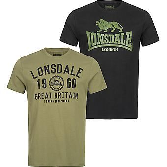 Lonsdale Herren T-Shirt Doppelpack Bangor Doppelpack