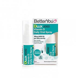 BetterYou DLux4000 فيتامين (د) رذاذ الفم 15ml