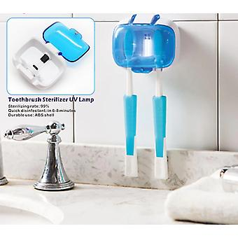 Toothbrush Holder Sterilizer For 2 Teeth Brushes - Uv Lamp Disinfection Box,